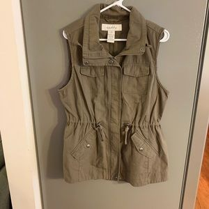Sebby Brown Cargo Vest Large